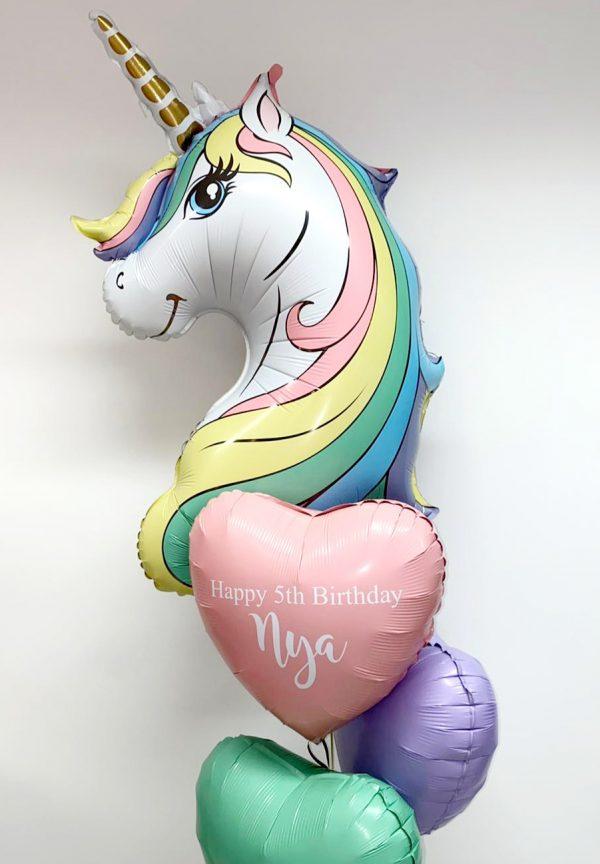 unicorn balloon pastel
