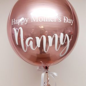 mothers day rose gold balloon