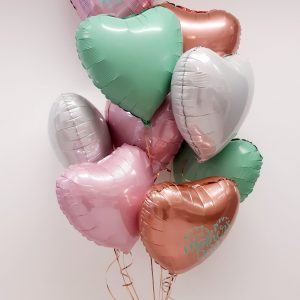 bunch of mothers day balloon hearts