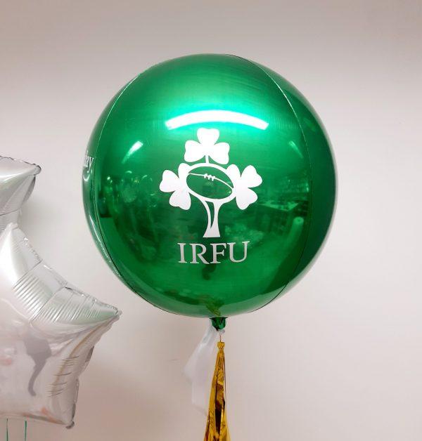 green orb balloon IRFU design