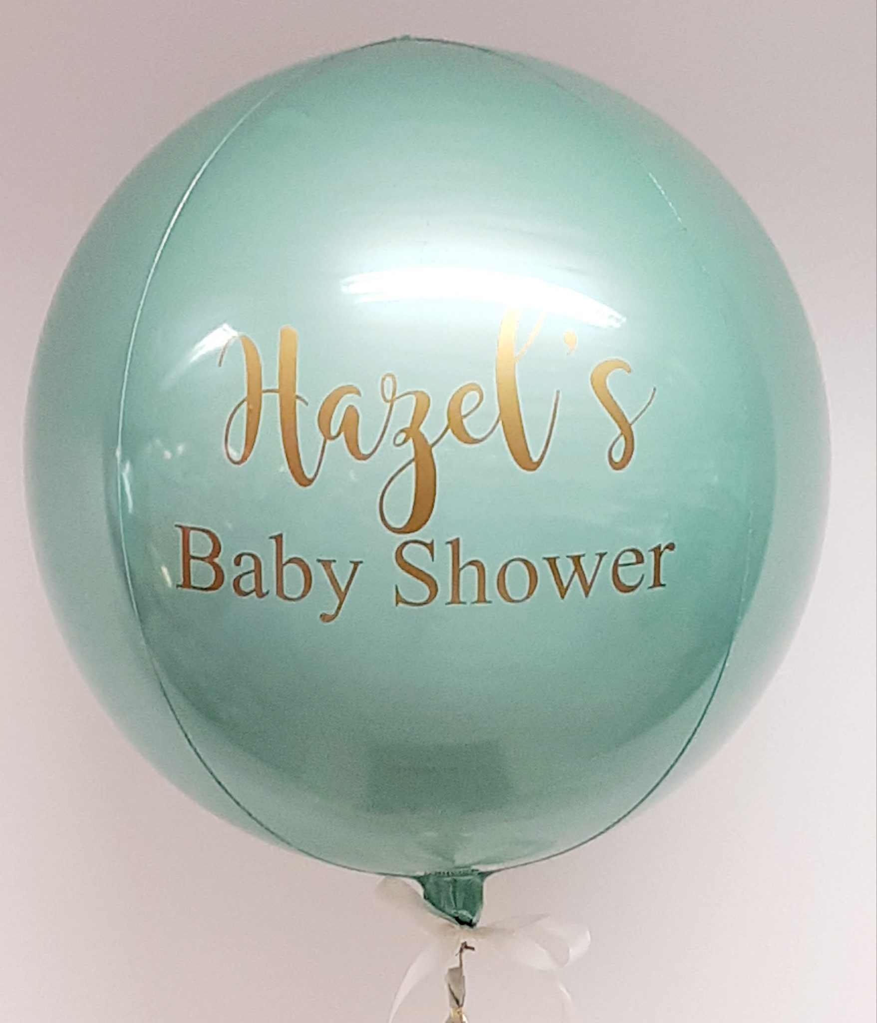 mint orb balloon personalised