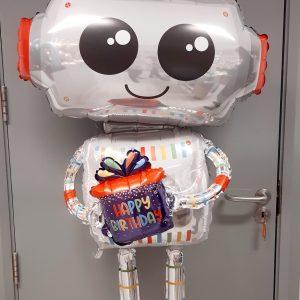 Happy birthday robot giant balloon