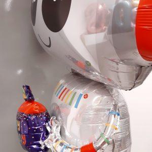 robot balloon side view