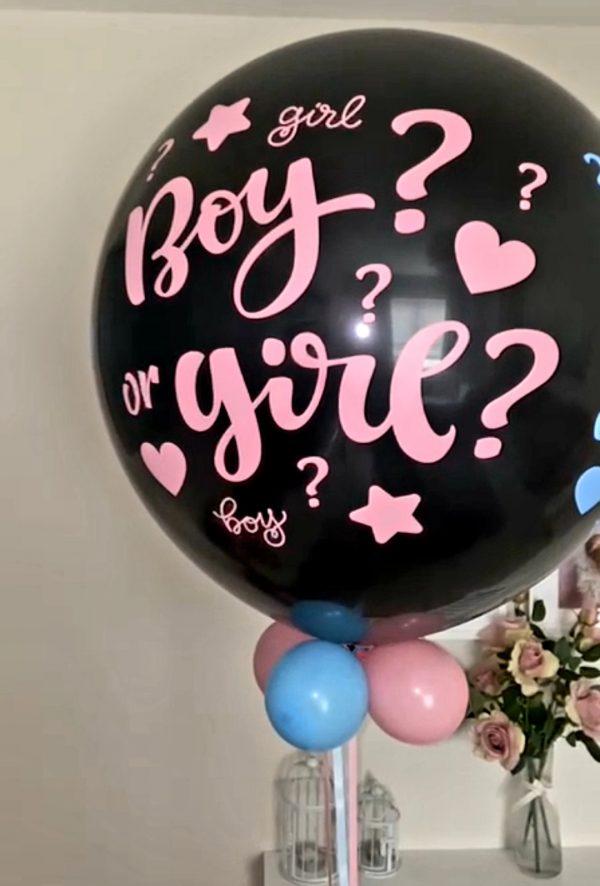 gender revael balloon boy or girl black balloon