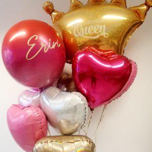 birthday balloon crown bunch