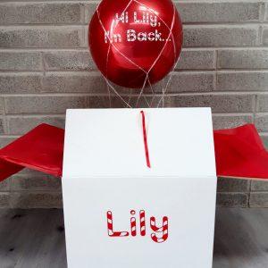 elf balloon white box