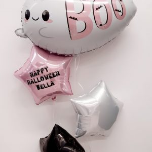 halloween ghost balloon bunch