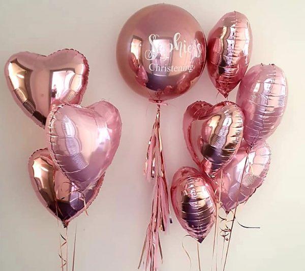 rose gold balloon set